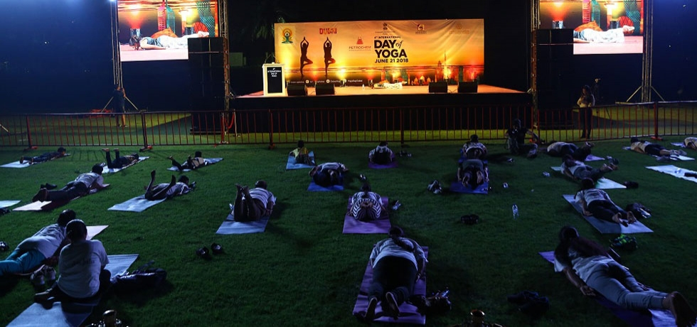 4th International Day of Yoga celebrations at Zabeel Park