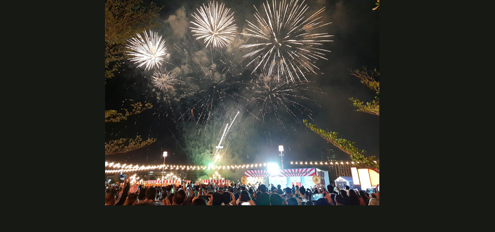 Fireworks at Al Seef on the occasion of Diwali on 7th  November 2018