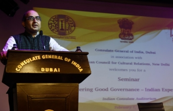 "Seminar on ""Delivering Good Governance - Indian Experience"
