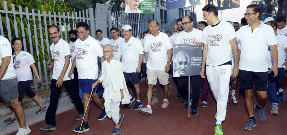 Walk for Peace & Tolerance lead by Consul General Sh. Vipul at Zabeel Park on the occasion of 150th Birth Anniversary of Mahatma Gandhi on October 2, 2019