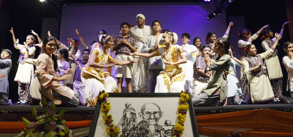 Dance-drama performance on the life and teachings of Mahatma Gandhi by the students of DPS, Dubai at the Consulate on the occasion on Gandhi Jayanti celebrations on 2 October, 2019