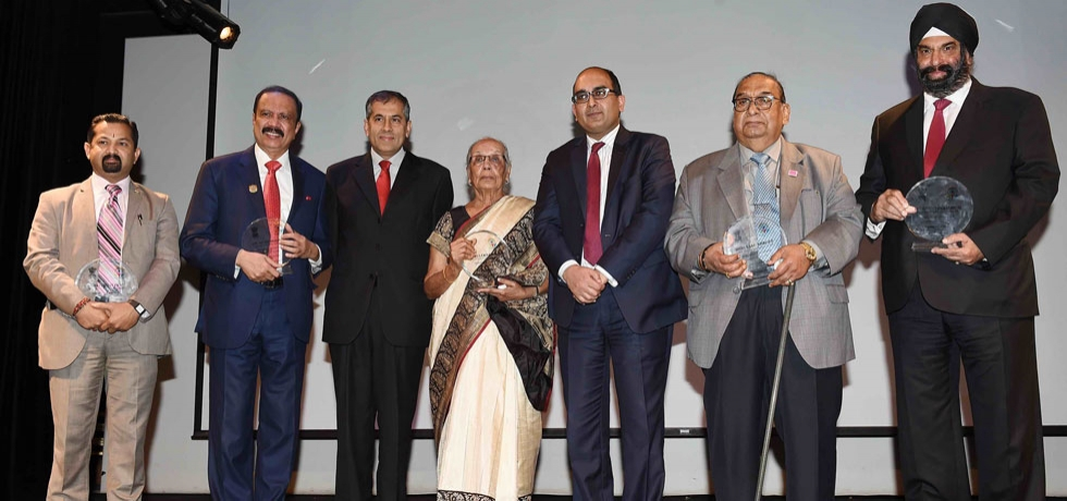 Pravasi Bharatiya Samman Awardees felicitated at the Consulate during the Pravasi Bharatiya Divas 2020 celebrations on 9 January 2020