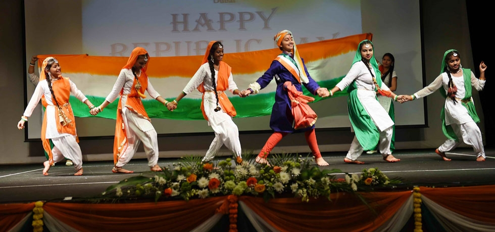 Cheerful and energetic performance by children on the occasion of 71st Republic Day of India at the Consulate on Sunday, 26 January 2020
