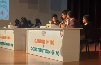 Inter school quiz on Gandhi@150 & Constitution@70