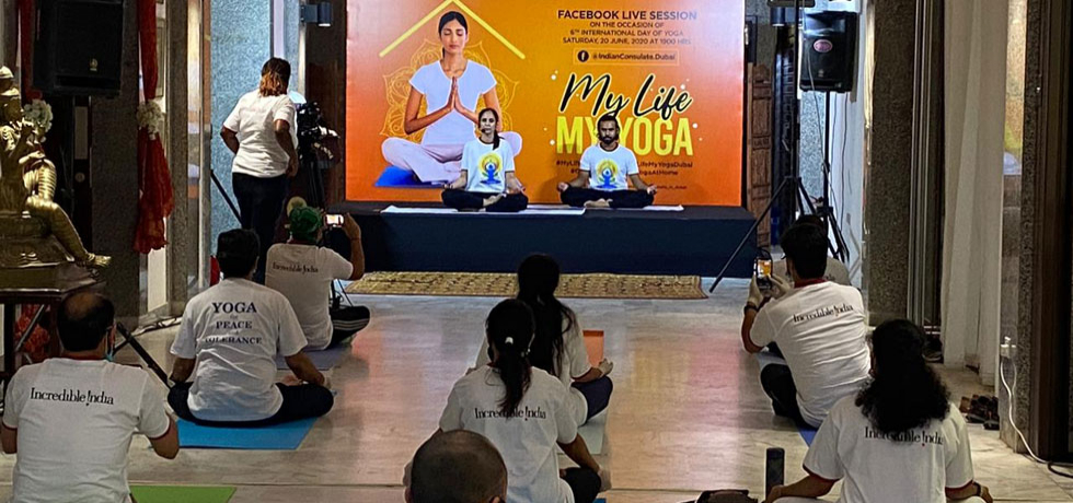 International Day of Yoga 2020 celebrations at CGI, Dubai
