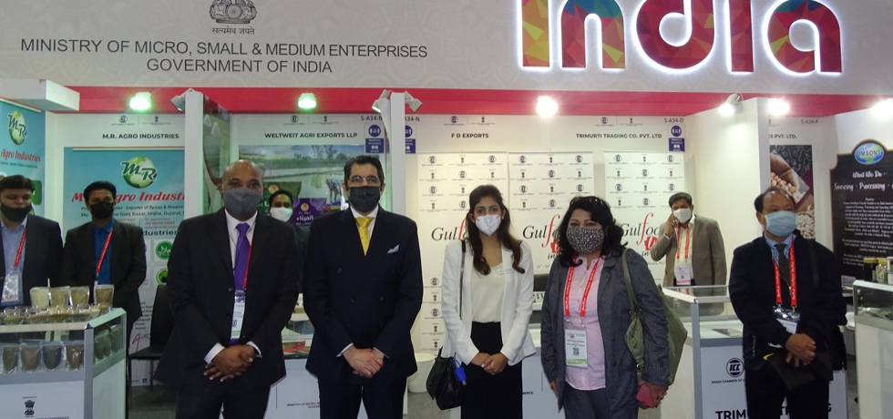 CG Dr.Aman Puri, formally inaugurated India Pavilion at Gulf Food 2021, February 22nd 2021