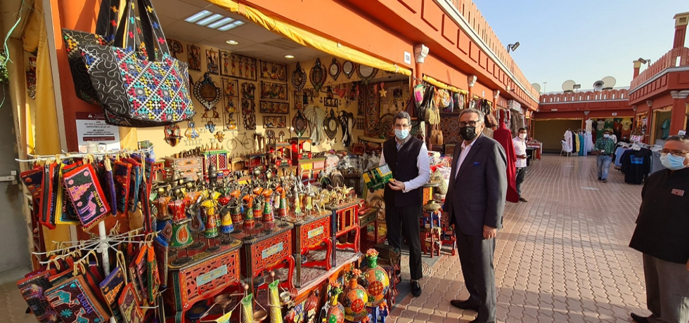 CG Dr. Aman Puri visited the India Pavilion at Global Village. March 21st 2021