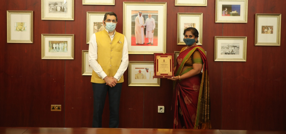 CG Dr.Aman Puri felicitated winners of Essay writing competition on