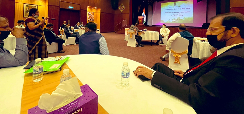 CG Dr. Aman Puri interacted with representatives of the Indian Community in Dubai and Northern Emirates. May 27, 2021