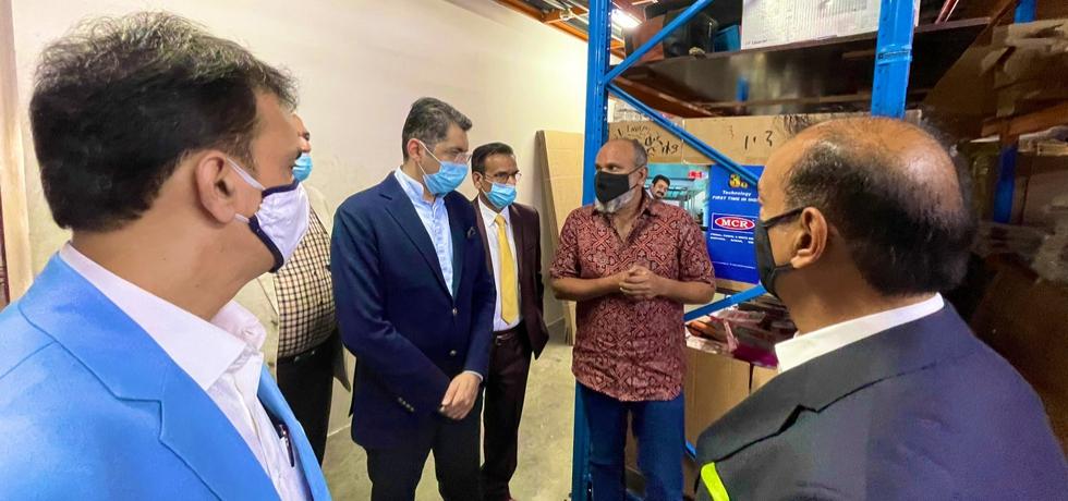 CG Dr. Aman Puri paid a courtesy visit to Textile Merchants Group (Texmas) facility at Dubai Textile City .May 26, 2021.