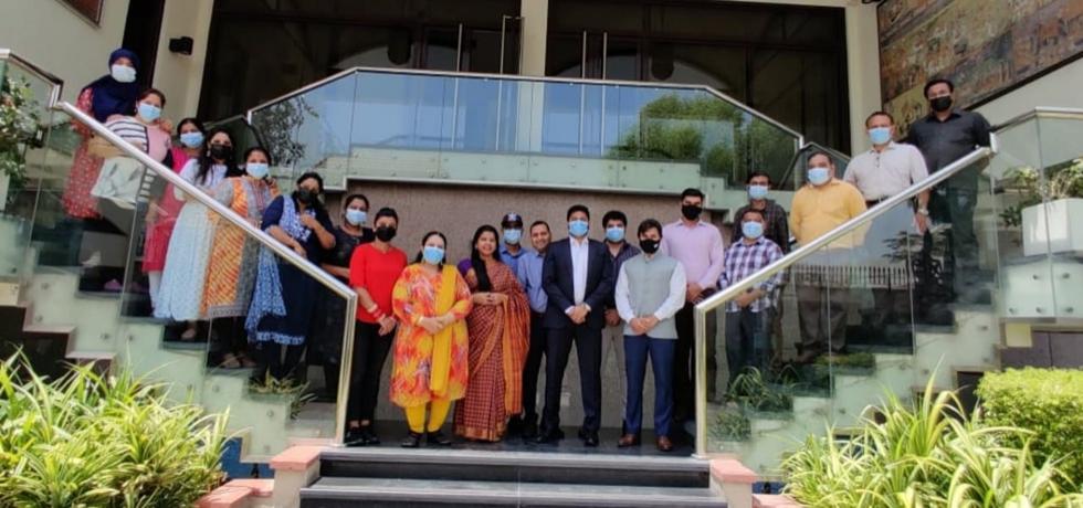Passport team of the Consulate General of India celebrates Passport Seva divas. June 24, 2021