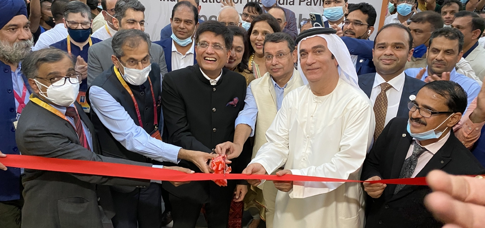 Shri Piyush Goyal, Minister of Commerce, Industry, Consumer Affairs, Food, Public Distribution and Textiles, Govt. of India inaugurated India Pavilion at Expo 2020 Dubai site. October 1, 2021