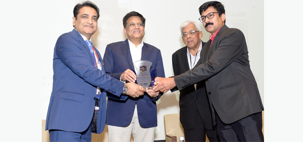 Shri Piyush Goyal, Minister of Commerce, Industry, Consumer Affairs, Food, Public Distribution and Textiles, Govt. of India attended Indian Peoples Forum Business Conclave 2021. October 3, 2021