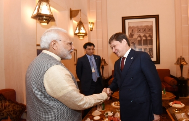 PM's bilateral meeting with Kyrgyz PM